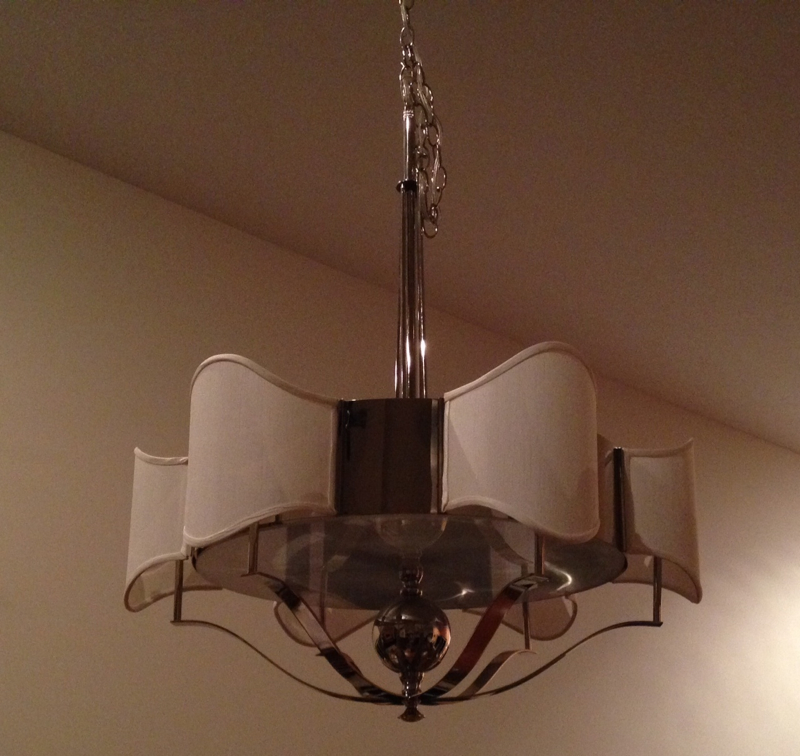 lampshade, chandelier, shield, restore, replace, restore,