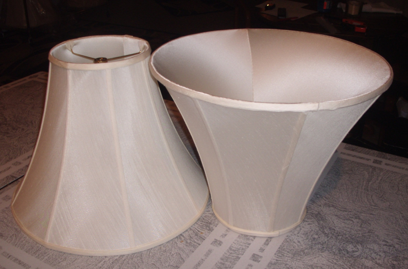 lampshade, liner, restore, replace, silk, a-frame, shades