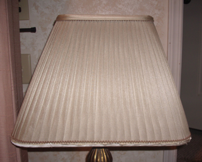 lampshade, liner, restore, replace, pleated, vintage, shade, fire