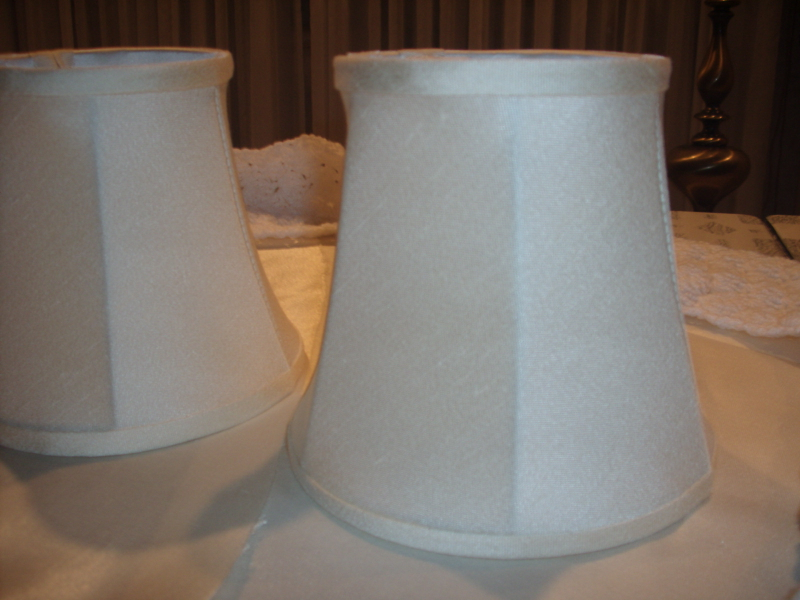 lampshade, candlelight, textured, restore, replace