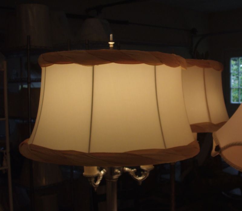 lampshade, bell, vintage, restore, recover, replace, valance
