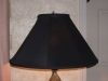 lampshade, black, recovered, restored, textured, shade