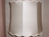 lampshade, scalloped, drum, vintage, shade