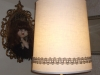 vintage, drum, lampshade, restored, recovered, shade