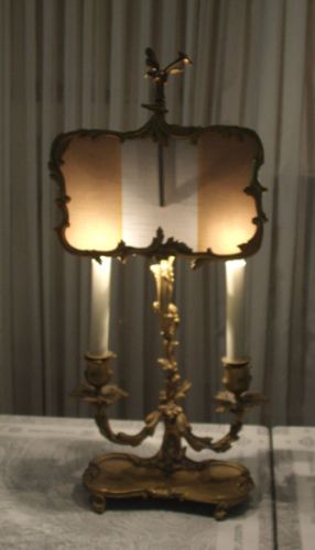vintage, antique, lampshade, ormalu, lamp, shade