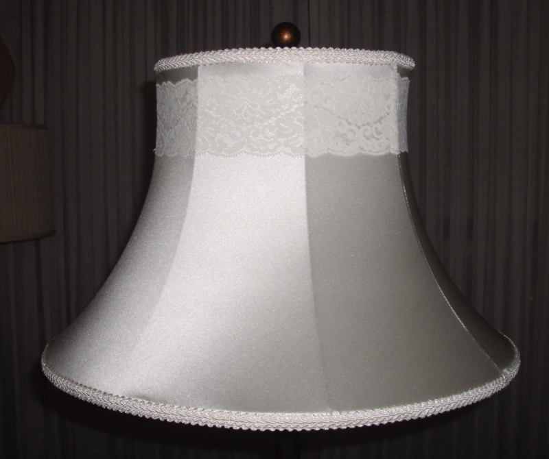 vintage, bell, lampshade, lace, silk, restore, shade