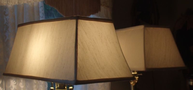 vintage, chandelier, lampshades, square, recover, restore, shades