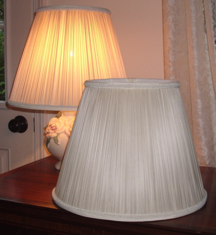 vintage, pleated, lampshade, liner, replace, restore