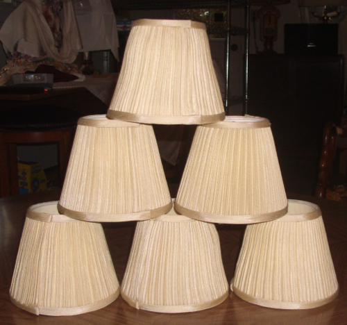 lamp, shade, chandelier, coolie, plastic, liner, replace, repair, restore, pleated cover