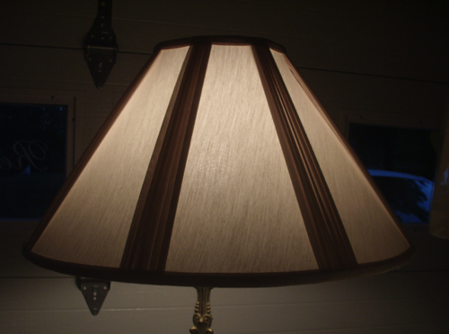 lamp, shade, a-frame, pleated, contemporary, liner, repair, replace