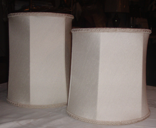 lamp, shades, barrel, vintage, small, restore, replace, cover, recover, textured