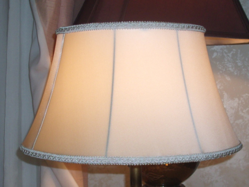 lamp, shade, vintage, small, bell, swing-arm, complete, restore, silk