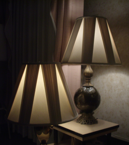 lampshade, pleated, liner, replace, restore, bell