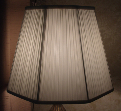 lampshade, pleated, liner, replace, restore, hexagon