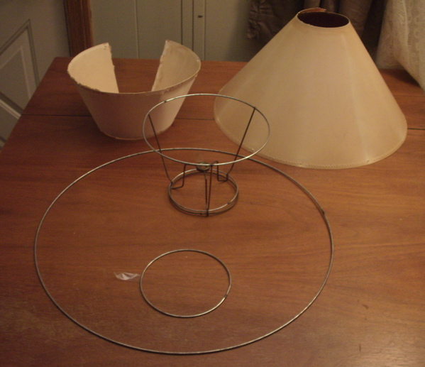 Early American Lampshade Shell Tore Down