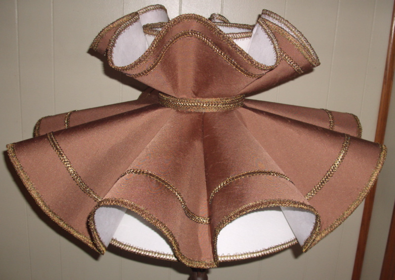 Early American Ruffled Restoration Lampshade Project