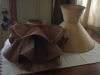 Original Early American Ruffled Lampshade Cover Tore Down