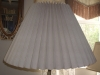 lampshade, accordion, pleated, vintage, restore, repair, replace