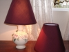 lampshades, replace, cover, burgundy, fabric, styrene