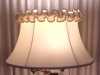 lampshade, bell, ruffle, valance, torch floor lamp