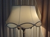 lampshade, vintage, scallop, silk, restored, recovered, replaced, shade, bell