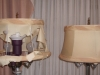 lampshades, bell, vintage, restored, replaced, recovered, shades