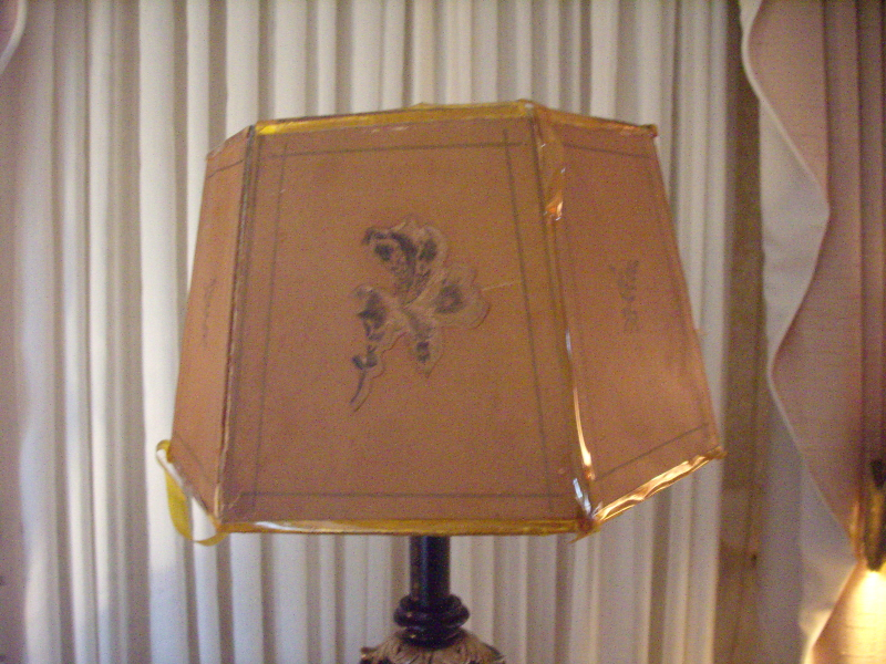 Nyc Antique Historic Repaired Lampshade