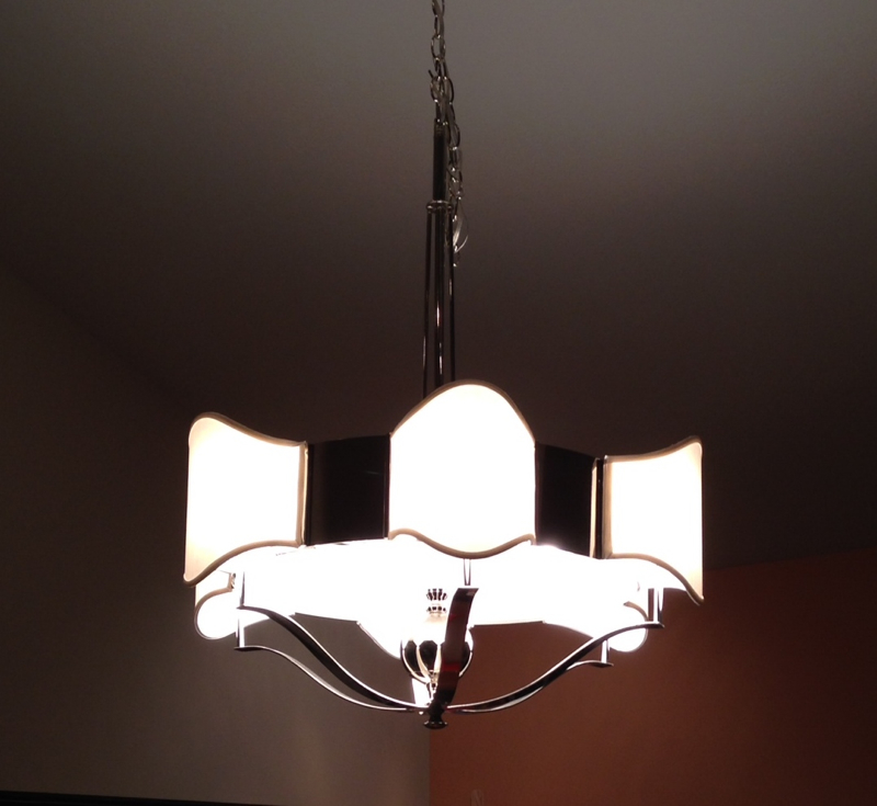 chandelier, shades, shantung, contemporary, repair, restore