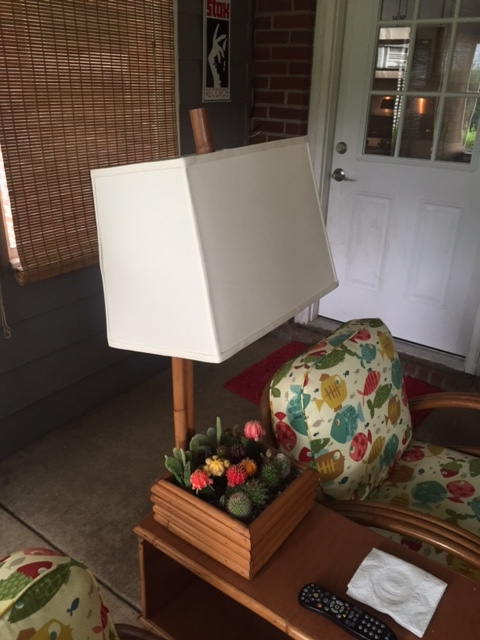 lampshade, rectangle, styrene, linen, restore, shade