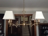 Vintage, chandelier, rectangle, shades, recovered, restored, repair, shades