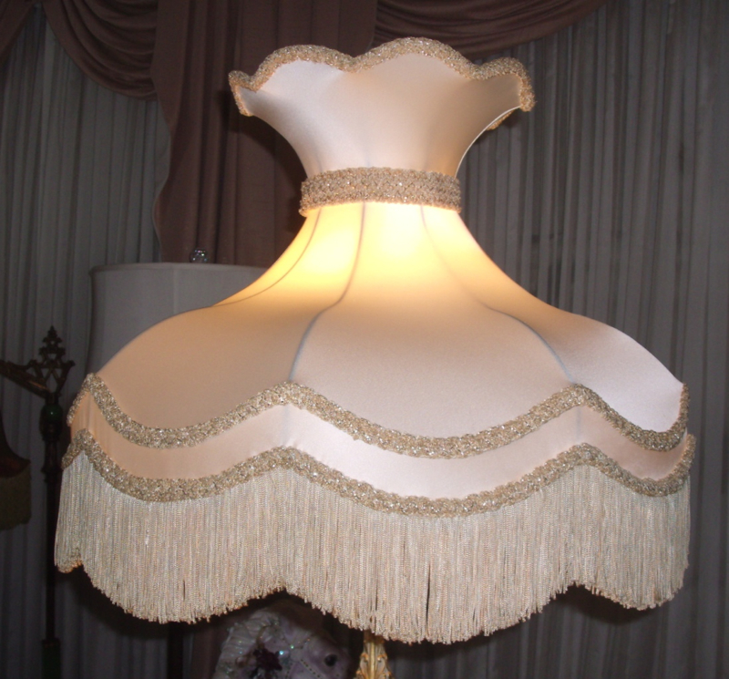 Victorian lampshades repaired restored lampshade victorian crown vintage fringe restore recover shade aloadofball Choice Image
