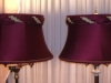 lampshades, vintage, bell, valance, torch floor lamp, repair, restore, recover