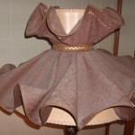 early american lampshade, ballerina,  restore