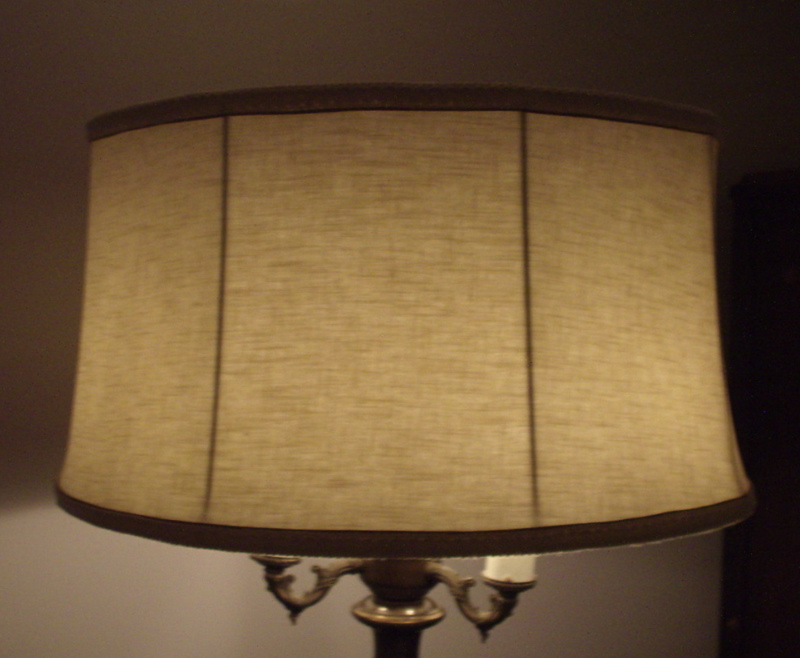 Amazing Fabric Shade, Floor Lamp Shade, Restored