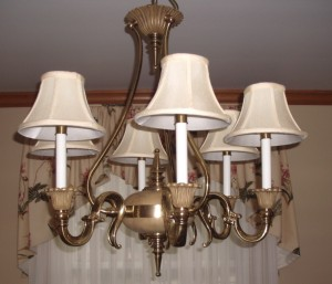 chandelier, lampshades, candlelight shades, repair
