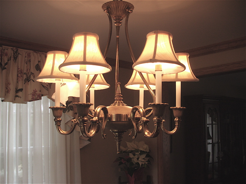 Chandelier candle light shades replacing liners only chandelier candle shades aloadofball Choice Image