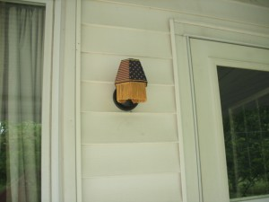lampshade, porch light, american flag theme