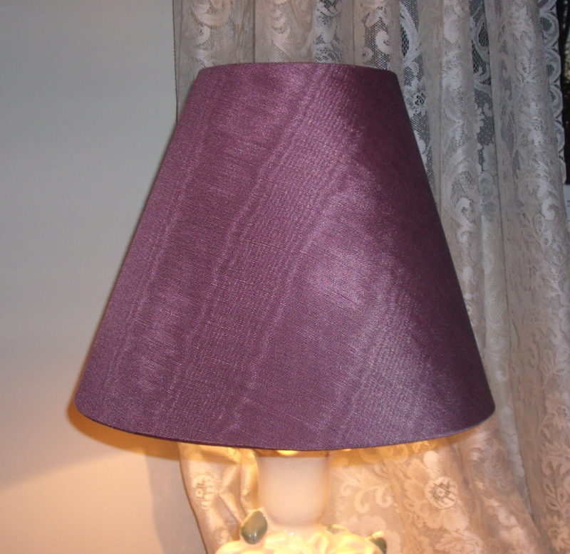 Black out lampshades recovered with burgundy silk douppionni lampshade recover rose fade restore repair aloadofball Image collections