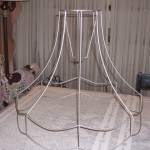 lampshade, vintage, victorian, shade, wire, frame