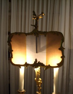 lampshade, ormolu, vintage, museum, antique, shade, repair, recover