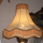 lampshade, victorian, fringe, vintage, recover, restore, repair