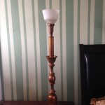 lamp, vintage, torch, bell, shade, restore