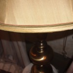 lampshade, bell, vintage, trim, recover, replace