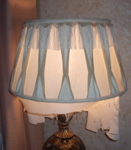 lampshade, liner, replace, restore, repair, shade