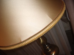 vintage, lampshade, bell, restore, recover, trim, shade