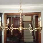 chandelier, vintage, lampshades, rectangle,