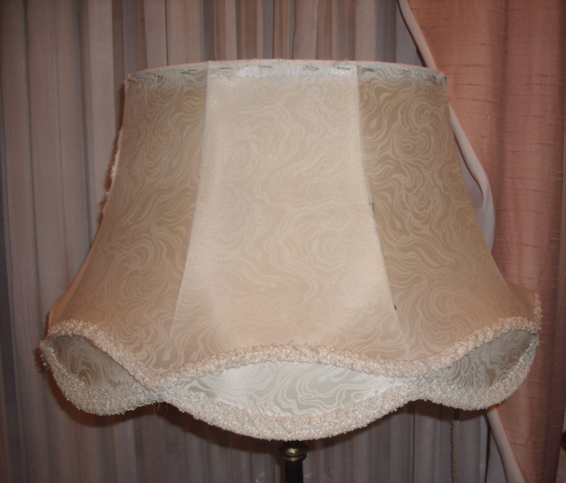 Vintage Scallop Bell Lampshade Repaired Recovered Restored