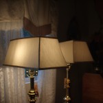 lampshade, chandelier, vintage, recovered, restored, shades