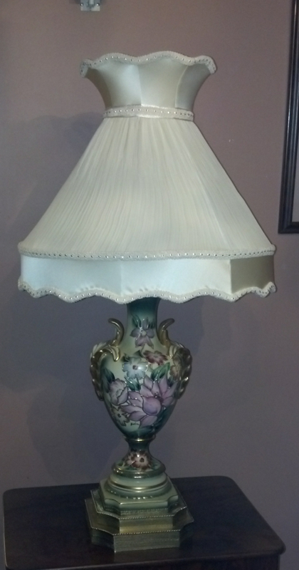 Vintage Pleated Victorian Lampshade Restore Recovered
