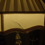 lampshade, vintage, fabric, replace, restore
